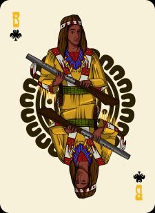 Spielkarten Indians- Farbig7