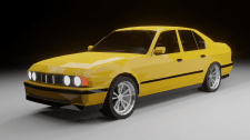 Lowpoly BMW E34 model