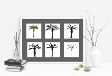 Стилизация пальмы.