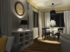 Желто-серая гостиная