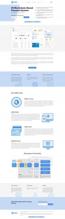 Landing Page. ICO Libra token