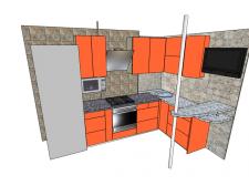 разработка дизайна и конструктива мебели для кухни