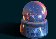 Модель снежного шарика