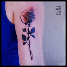 Роза (трешполька) тату
