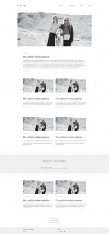 Верстка блога на Бутстрапе, с натяжкой на WordPres