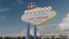 Знак при въезде в Лас Вегас