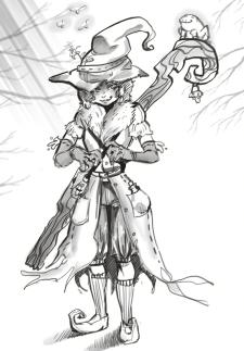 Скетч-концепт ведьмочки