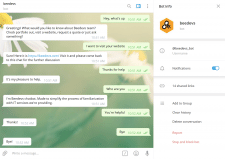Beedevs Telegram Chatbot