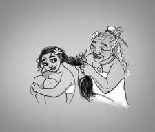 Моана и Бабушка