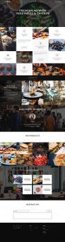 Дизайн сайта ресторана для Themeforest