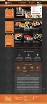 Сайт служби доставки суші «Sushido»