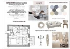Основной стилистический коллаж - концепция проекта