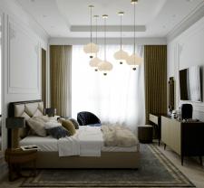 Квартира в классическом стиле (спальня)