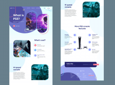 Сайт визитка PlayStation®5
