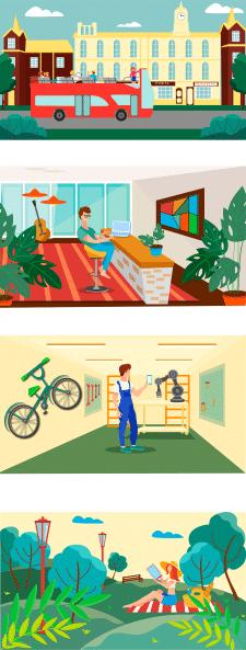 Иллюстрации для дальнейшей анимации