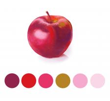 Рисунок яблока в Photoshop