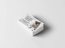 Дизайн визитки для агента по полиграфии