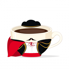 Чашка в традиционном костюме