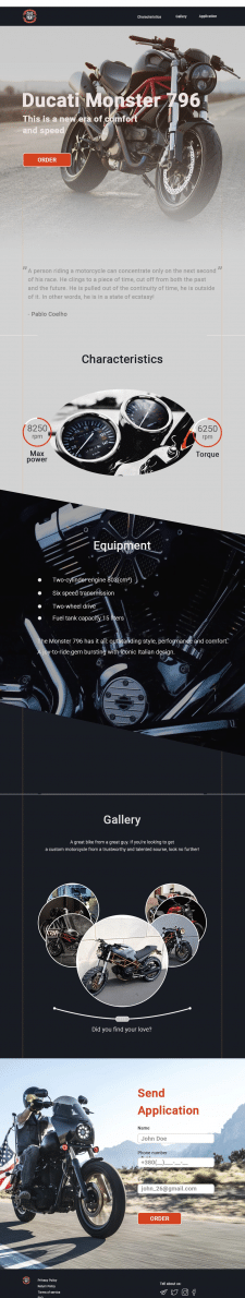 Ducati Monster 796 landing page