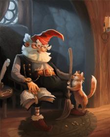 Гном и кот