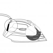 Техническое изображение утюга