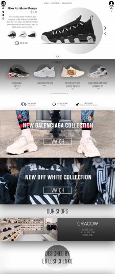 Пример дизайна интернет-магазина