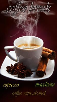 Постер с кофе