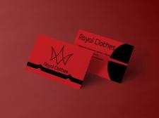 Визитка для магазина одежды.