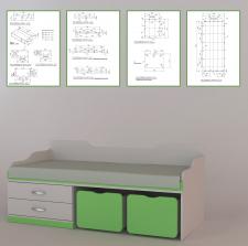 Моделирование мебели по чертежам