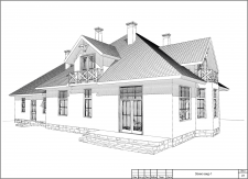 Проект одноэтажного дома с мансардой. Киев