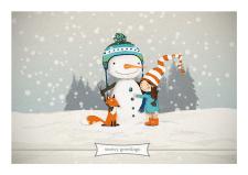 "Greeting Card ""Snowy Greetings"""
