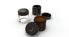 Glass Jars For Cosmetic Creams