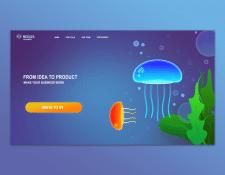 Дизайн одноэкранного сайта