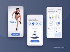 Mobile design of workout tracker app