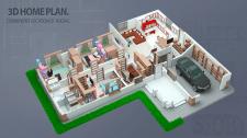 3D план дома.