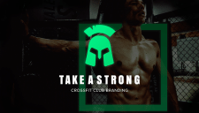 Take A Strong GYM Брендинг