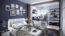 однокомнатная квартира(спальня)