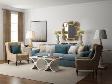 Дизайн интерьера гостинной комнаты от Sun-Vik