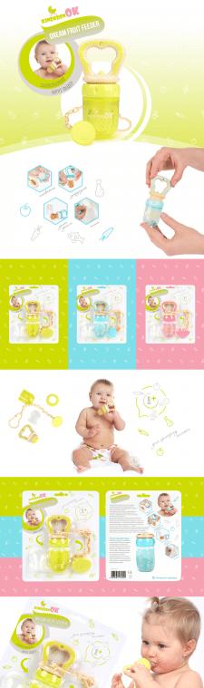 Дизайн упаковки силиконового ниблера Kinderenok