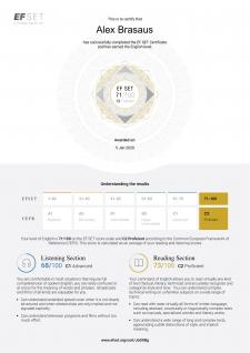 Сертификат EF SET
