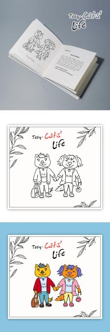 """Иллюстрации для детской книги """"Cats' Life"""""""