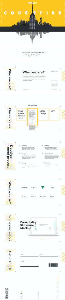 Redesign Codempire company