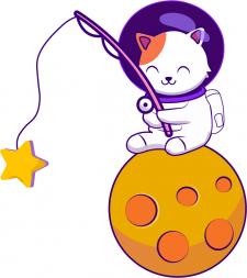 Иллюстрация Moon Cat