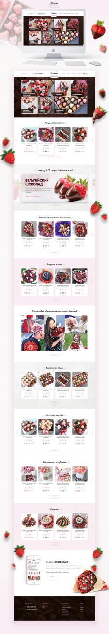 Доставка букетов из клубники - интернет-магазин