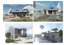 Визуализация варианты модульных домов