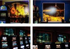 Оформление окон зала игровых автоматов/Making the windows of the
