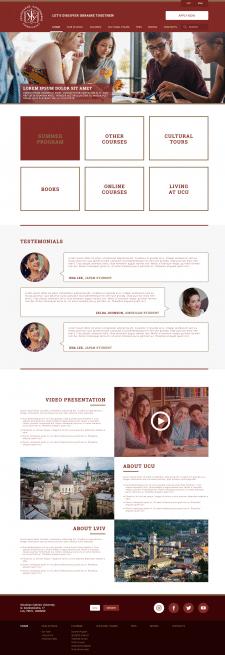 Дизайн сайта для школы «УКУ»