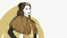 Фрагмент fashion-иллюстрации