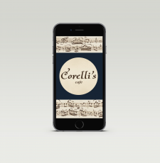 Corelli`s cafe, загрузочный экран для приложения