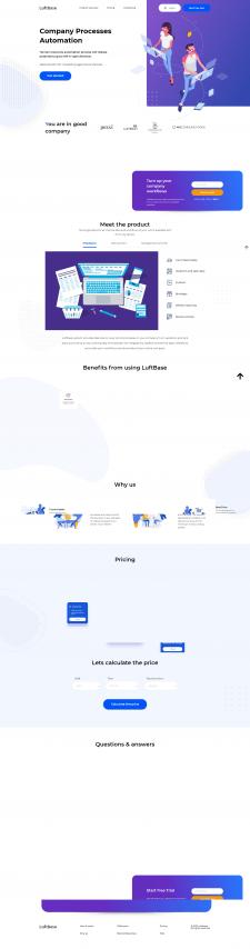 """Адаптивная верстка LandingPage """"Luftbase"""""""